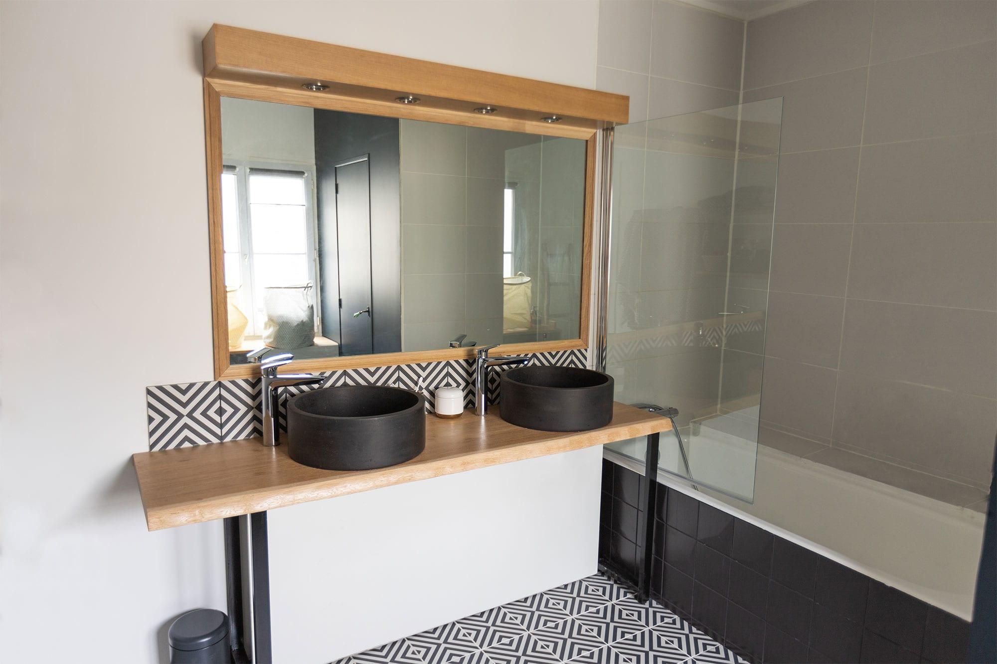 Type De Salle De Bain atelier laïo - meuble salle de bains live edge - création